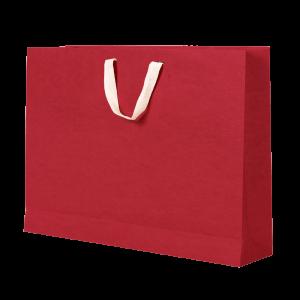 Premium Kraft – Kraft Vermelho – Sacola com alça algodão – G