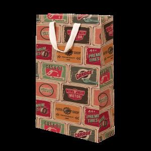 Premium Kraft – Placas Vintage – Sacola com alça algodão – M