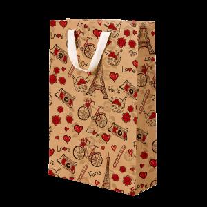 Premium Kraft – Floral Rústico – Sacola com alça algodão – M