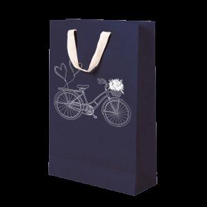 Premium Kraft – Azul Bicicleta – Sacola com alça algodão – M