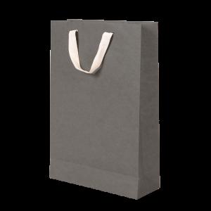 Premium Kraft – Kraft Cinza – Sacola com alça algodão – M