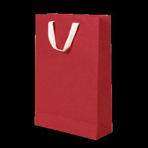 Premium Kraft – Kraft Vermelho – Sacola com alça algodão – M