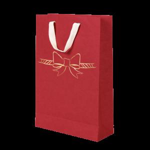 Premium Kraft – Vermelho Laço – Sacola com alça algodão – M
