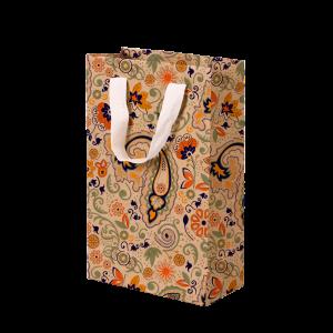 Premium Kraft – Floral Rústico – Sacola com alça algodão – P