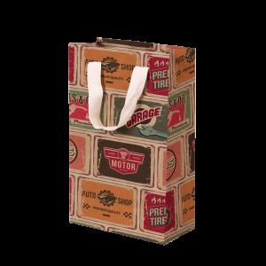 Premium Kraft – Placas Vintage – Sacola com alça algodão – P