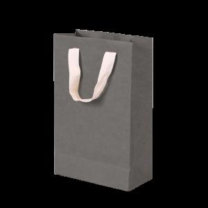 Premium Kraft – Kraft Cinza – Sacola com alça algodão – P