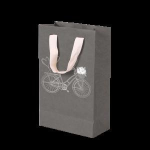 Premium Kraft – Cinza Bicicleta – Sacola com alça algodão – P