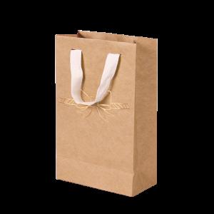 Premium Kraft – Natural Laço – Sacola com alça algodão – P