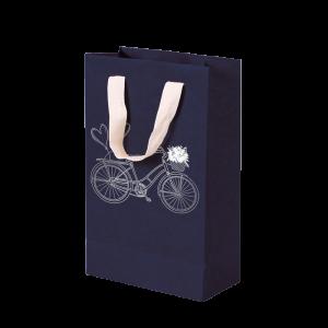 Premium Kraft – Azul Bicicleta – Sacola com alça algodão – P