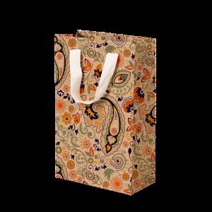 Premium Kraft – Floral Rústico – Sacola com alça algodão – PP