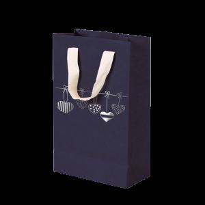 Premium Kraft – Azul Coração – Sacola com alça algodão – PP
