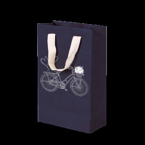 Premium Kraft – Azul Bicicleta – Sacola com alça algodão – PP