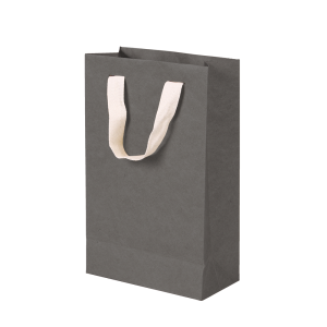 Premium Kraft – Kraft Cinza – Sacola com alça algodão – PP
