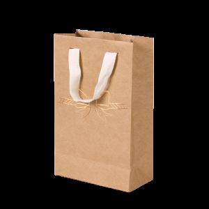 Premium Kraft – Natural Laço – Sacola com alça algodão – PP