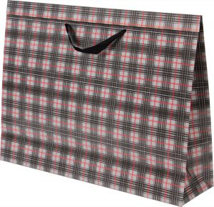 Basic Bag – G – Xadrez Cinza e Vermelho