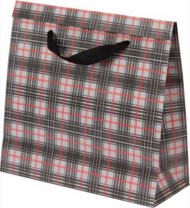 Basic Bag – P – Xadrez Cinza e Vermelho