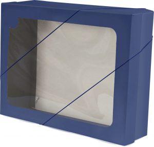 Caixa com visor – G – Azul