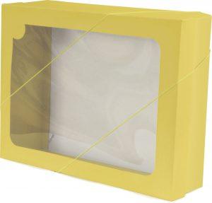 Caixa com visor – G – Amarelo