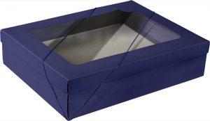 Caixa com visor – G Retangular – Azul