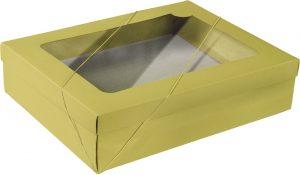 Caixa com visor – G Retangular – Amarelo