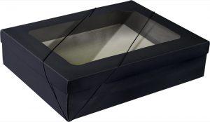 Caixa com visor – G Retangular – Preto