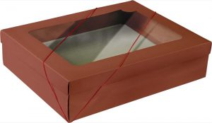 Caixa com visor – G Retangular – Vermelho