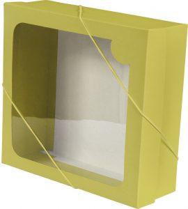 Caixa com visor – M – Amarelo