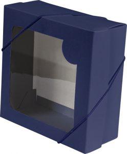 Caixa com visor – P – Azul