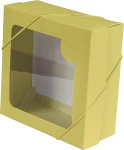 Caixa com visor – P – Amarelo