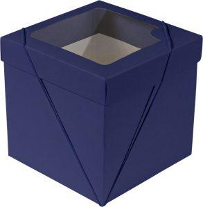 Caixa com visor – P Cubo – Azul