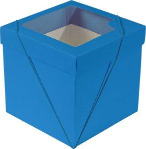 Caixa com visor – P Cubo – Cyan