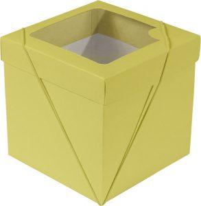 Caixa com visor – P Cubo – Amarelo
