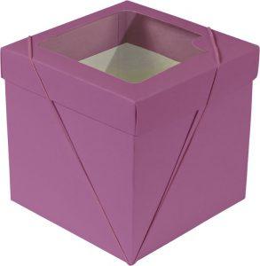 Caixa com visor – P Cubo – Magenta