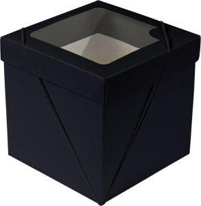 Caixa com visor – P Cubo – Preto