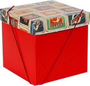 Caixa – Cubo – Placas Vintage