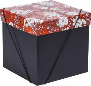 Caixa – Cubo – Flores Marsala