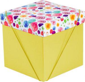 Caixa – Cubo – Flores Aquarela