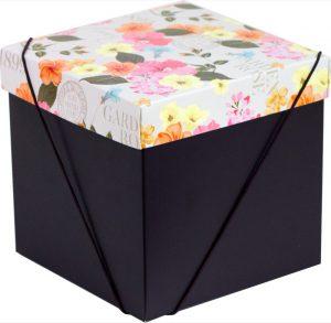 Caixa – Cubo – Flores Retrô