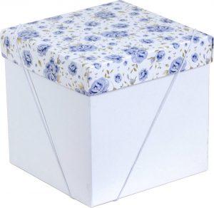 Caixa – Cubo – Rosas Azuis
