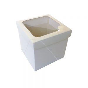 Caixa com visor – P Cubo – Branca