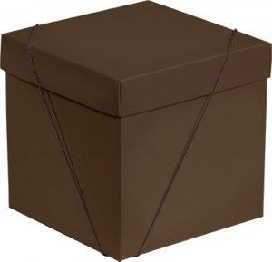 Caixa – Cubo – Marrom
