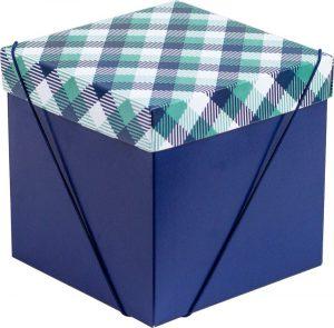 Caixa – Cubo – Xadrez Verde e Azul