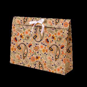Premium Kraft – Floral Rústico – Sacola envelope com alça – G