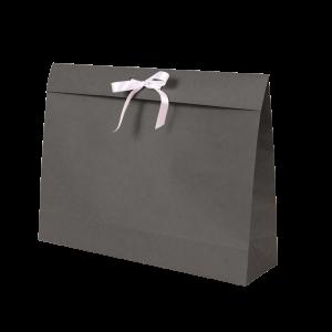Premium Kraft – Kraft Cinza – Sacola envelope com alça – G