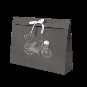Premium Kraft – Cinza Bicicleta – Sacola envelope com alça – G
