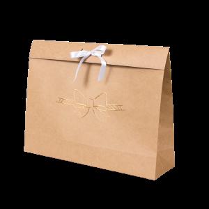Premium Kraft – Natural Laço – Sacola envelope com alça – G