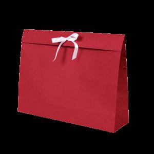 Premium Kraft – Kraft Vermelho – Sacola envelope com alça – G