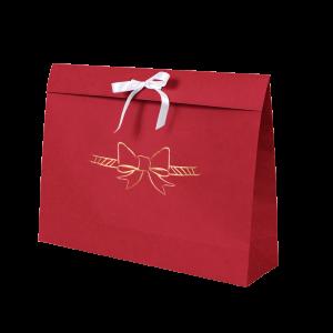 Premium Kraft – Vermelho Laço – Sacola envelope com alça – G