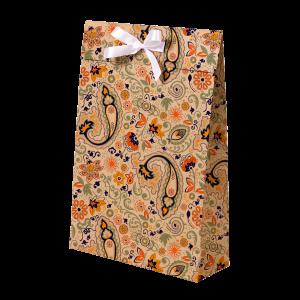 Premium Kraft – Floral Rústico – Sacola envelope com alça – M