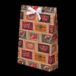 Premium Kraft – Placas Vintage – Sacola envelope com alça – M